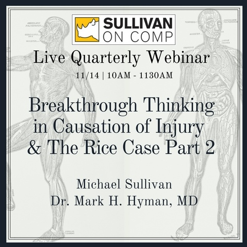 Live Quarterly Webinar Q3 2017 - Breakthrough Thinking in Causation of Injury and the Rice Case - Part 2